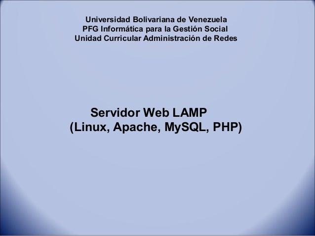 Servidor web lamp