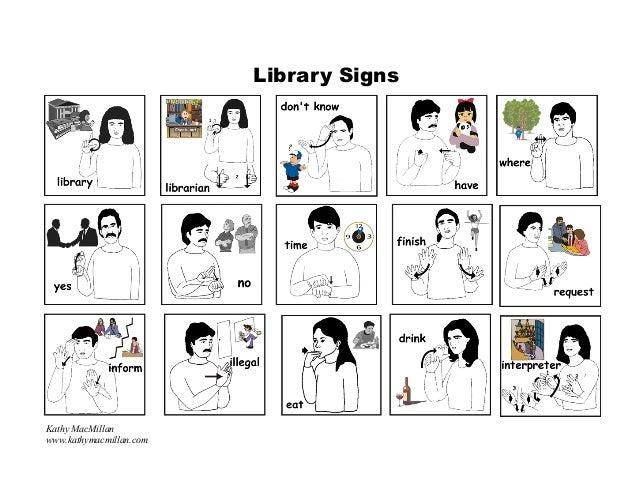 Library Signs Kathy MacMillan www.kathymacmillan.com