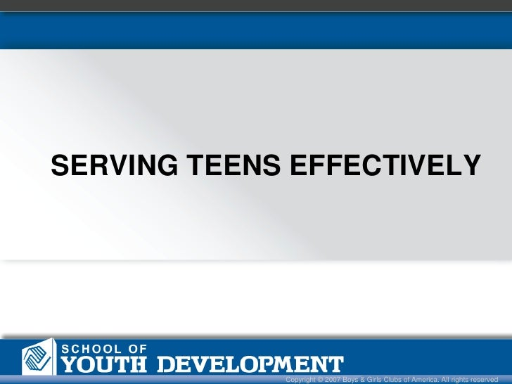 Serving teens effect 2nd final ppt