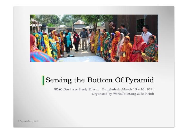 Serving the Bottom Of Pyramid                         BRAC Business Study Mission, Bangladesh, March 13 – 16, 2011        ...