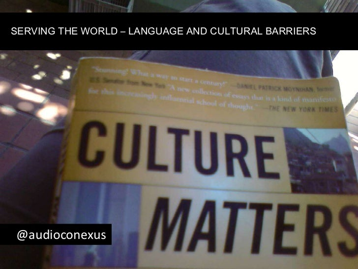 SERVING THE WORLD – LANGUAGE AND CULTURAL BARRIERS<br />    @audioconexus<br />