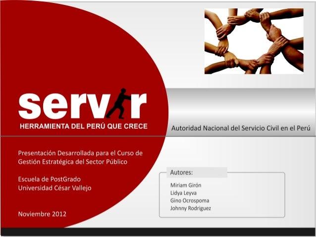 Servir UCV Escuela de PostGrado