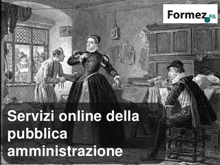 Servizi online della Pubblica Amministraizone