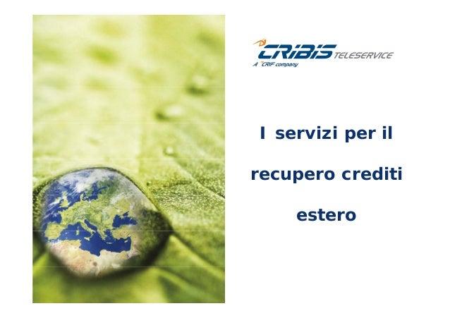 I servizi per il recupero crediti estero di CRIBIS TELESERVICE