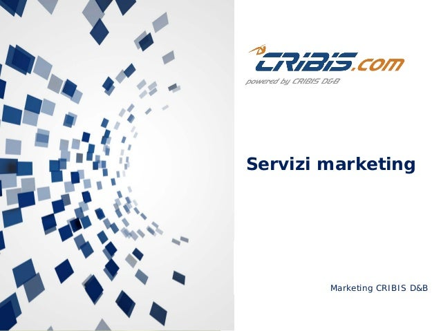 Marketing CRIBIS D&B Servizi marketing