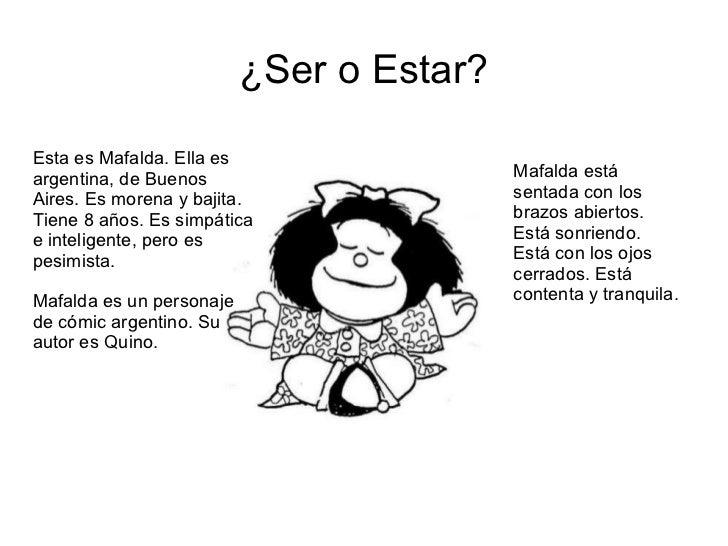 MAFALDA SER O ESTAR