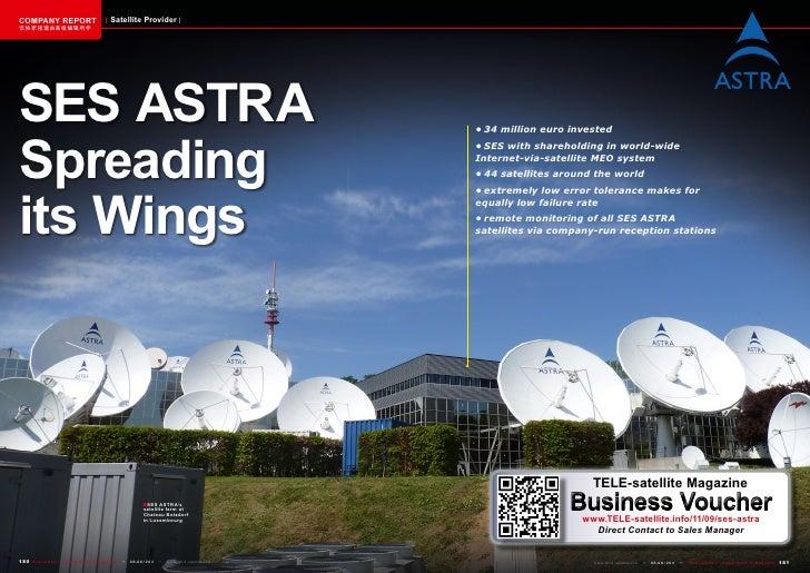 COMPANY REPORT                         Satellite Provider该独家报道由高级编辑所作SES ASTRASpreading                                   ...
