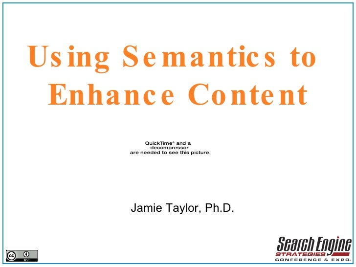 Using semantic to enhance content
