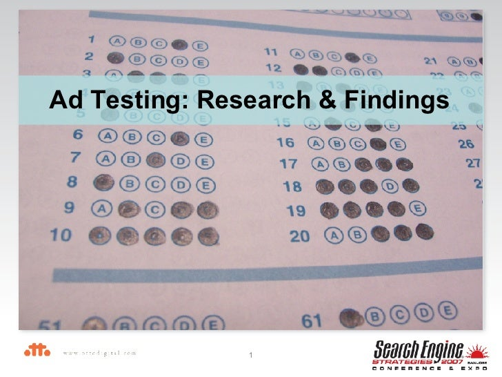 Ad Testing: Research & Findings