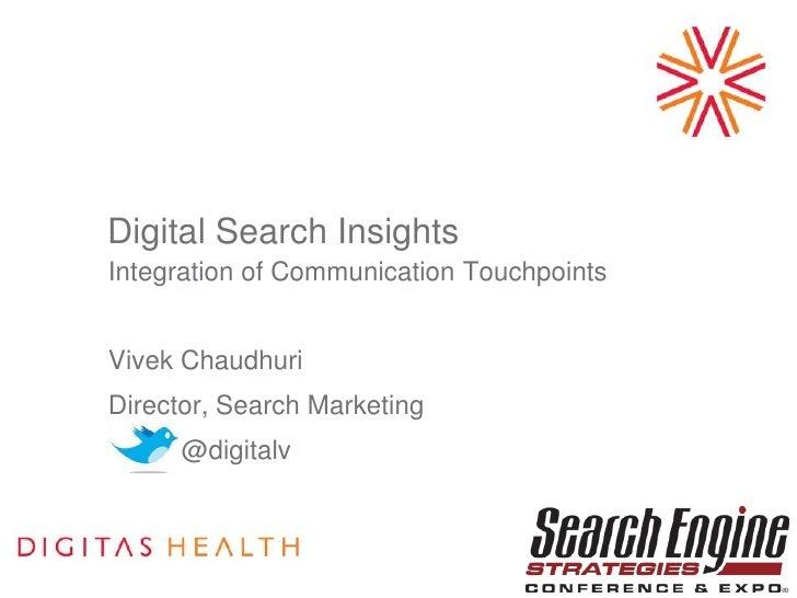 Digital Search Insights & Integration of Marketing