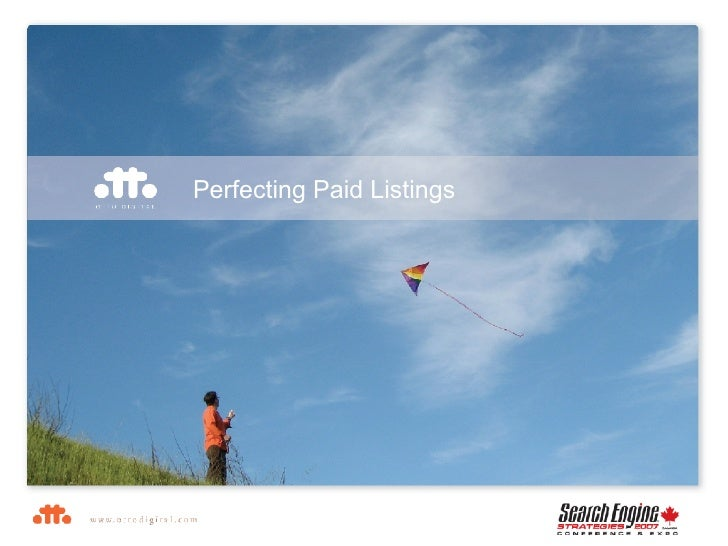 Perfecting Paid Listings