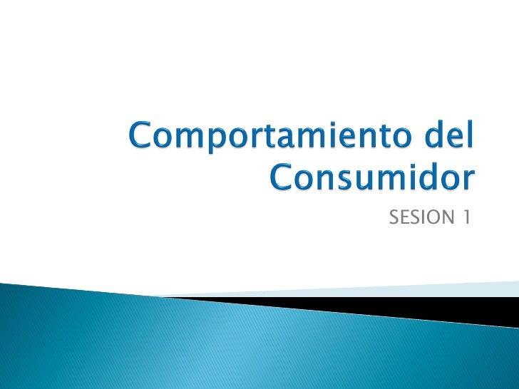 Comportamiento del consumidor (20 sesiones)