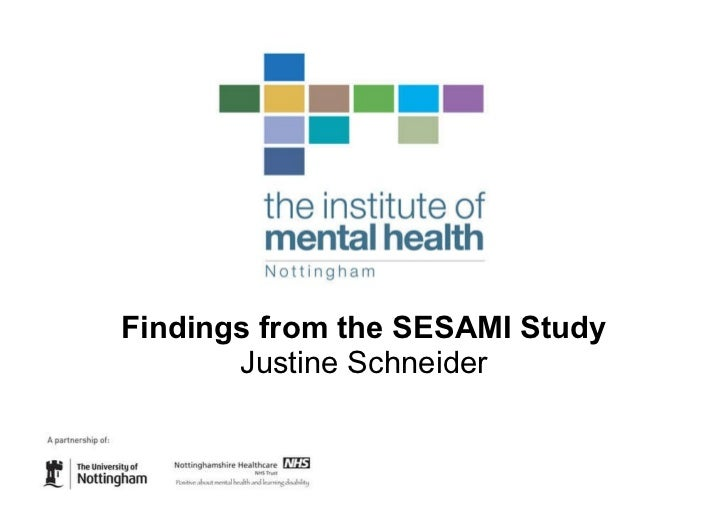 Findings from the SESAMI Study: Justine Schneider