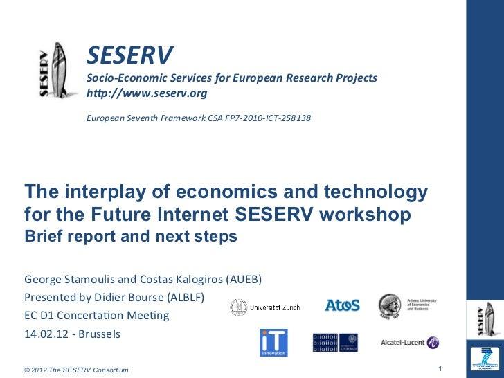 SESERV                 Socio-‐Economic Services for European Research Pro...