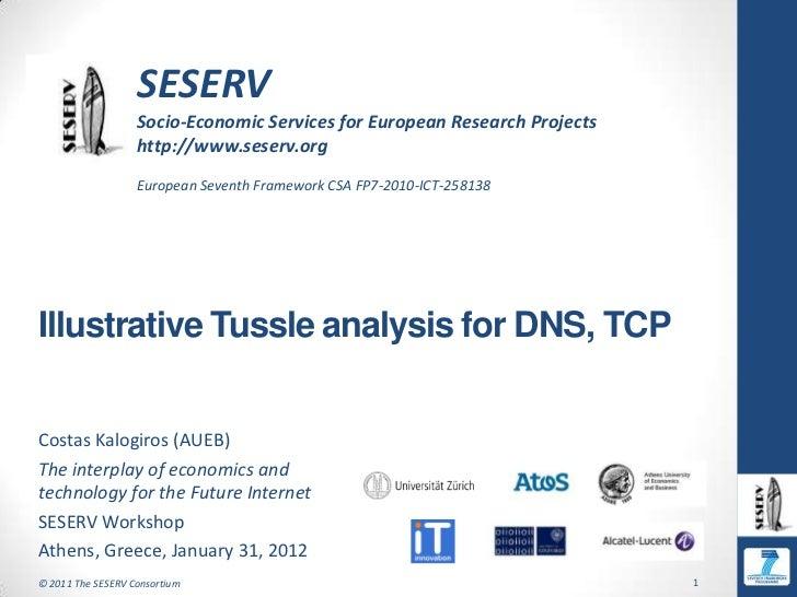 Seserv workshop   costas kalogiros - tussle analysis examples dns-tcp