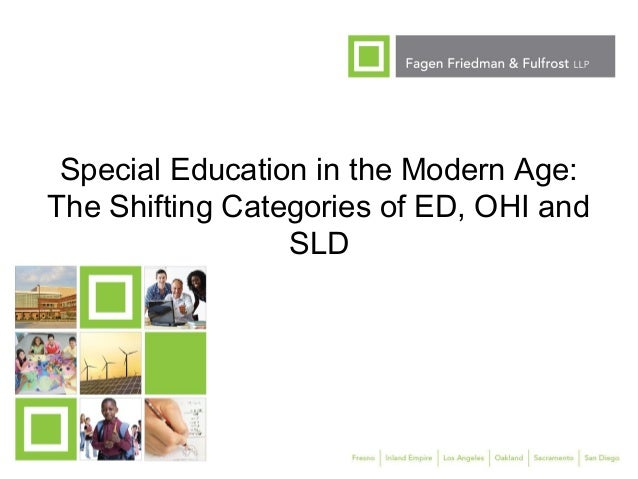 SES Fall 2012 The Shifting Categories of ED, OHI and SLD