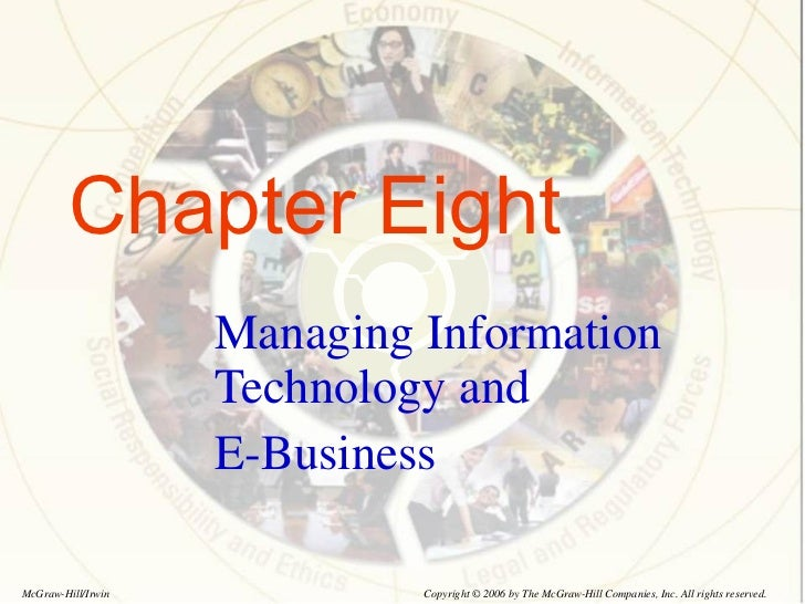 Chapter Eight Managing Information Technology and  E-Business Copyright © 2006 by The McGraw-Hill Companies, Inc. All righ...