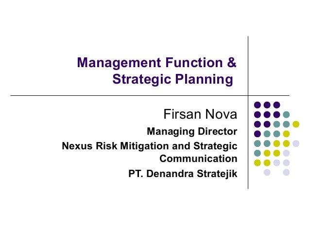 Sesi 2 strategic crisis planning