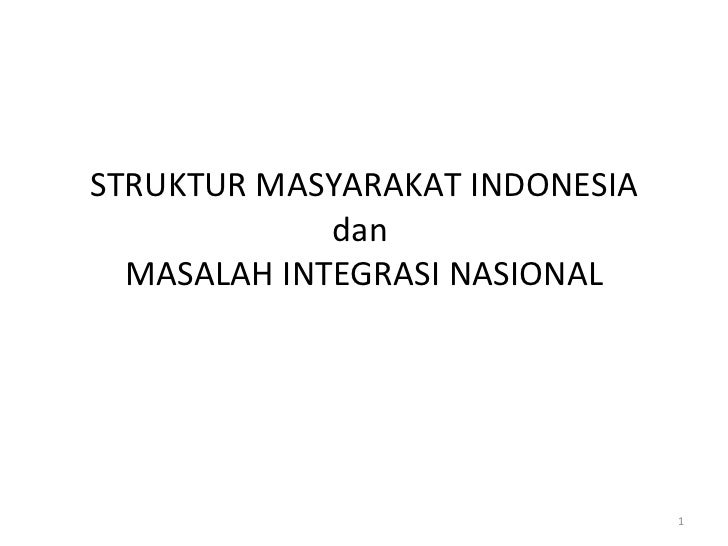 Sesi 6 struktur masyarakat indonesia