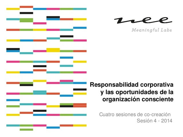 Sesión 4 taller rsc y organización consciente 2014