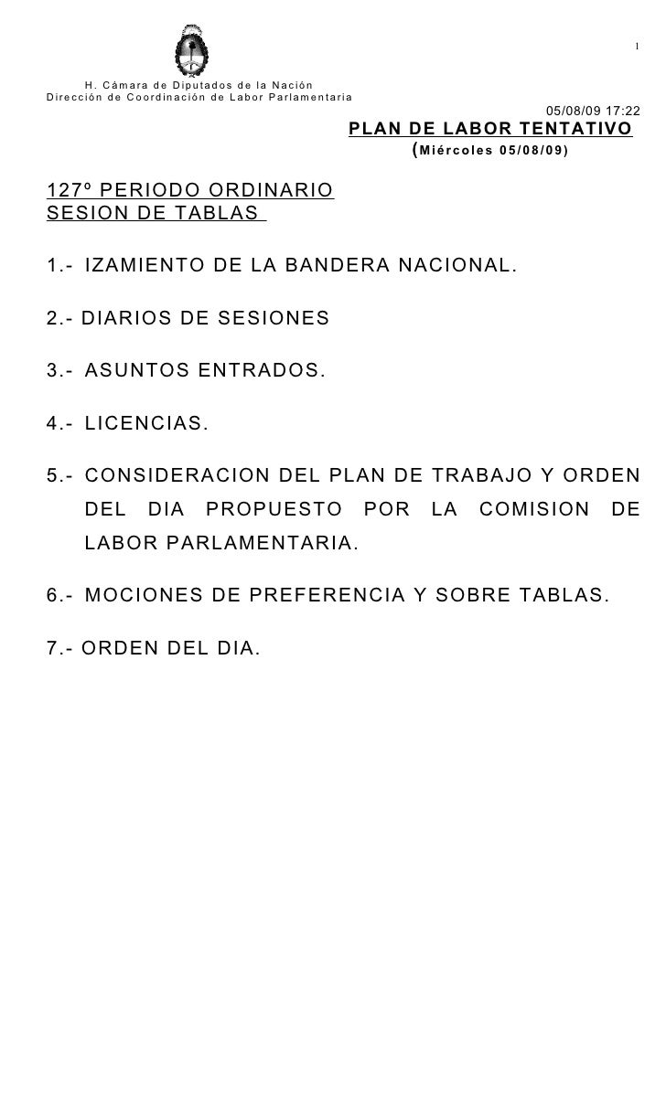 1         H. Cámara de Diputados de la Nación Dirección de Coordinación de Labor Parlamentaria                            ...