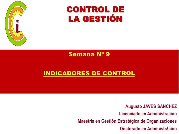 Sesión 9 indicadores de control  iii unidad