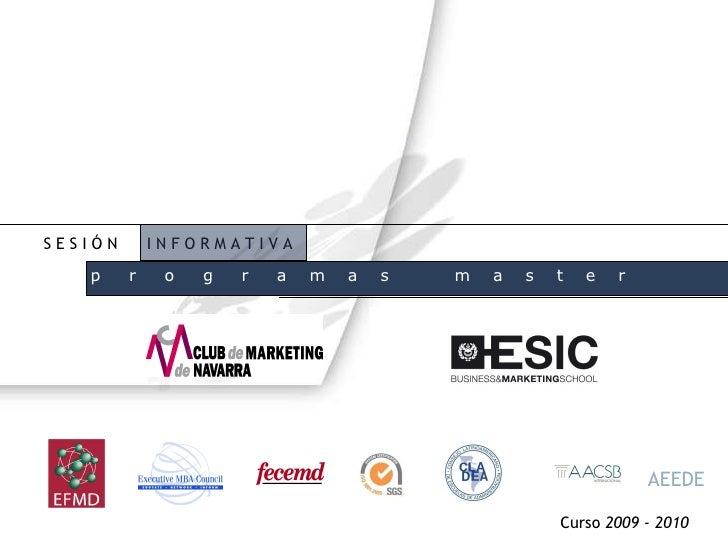 SesióN Informativa Master Pamplona Septiembre 09