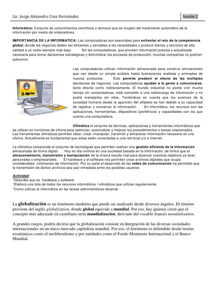 Sesión no2   introducción a la informatica