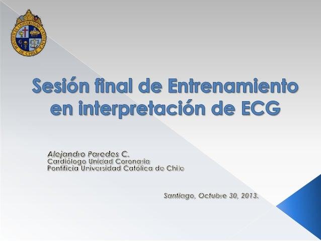 Entrenamiento en interpretación de ECG