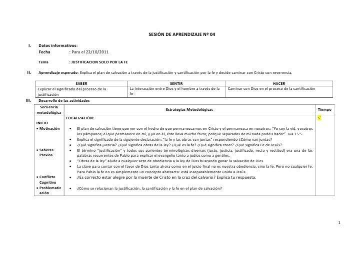 SESIÓN DE APRENDIZAJE Nº 04 I.     Datos informativos:        Fecha          : Para el 22/10/2011        Tema             ...