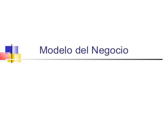 Modelo del Negocio
