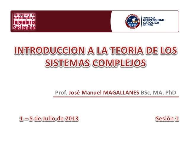 Ingenieria Sostenible PUCP - Introduccion a los Sistemas Complejos (I)