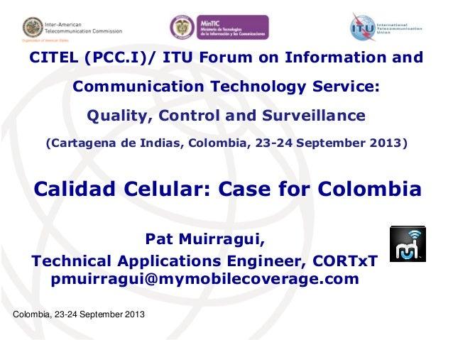 Aplicación Calidad Celular:  Caso Colombiano