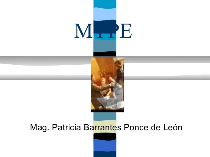 MYPEMag. Patricia Barrantes Ponce de León