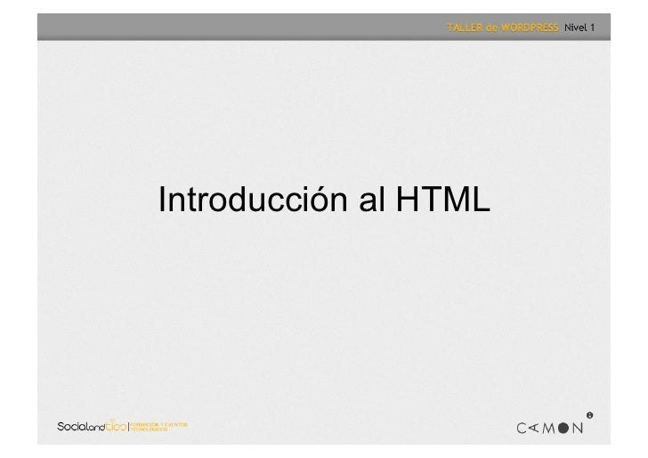 Taller Wordpress Nivel II
