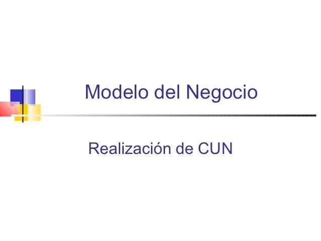 Modelo del NegocioRealización de CUN