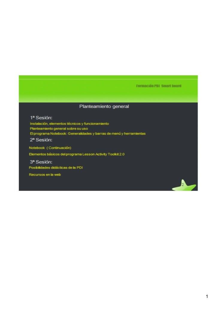 Sesion 1 y 2 smartboard