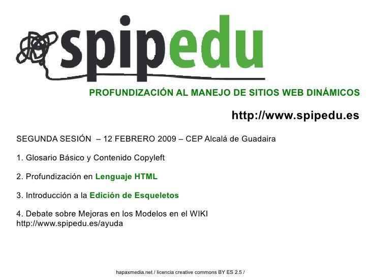 PROFUNDIZACIÓN AL MANEJO DE SITIOS WEB DINÁMICOS                                                                          ...