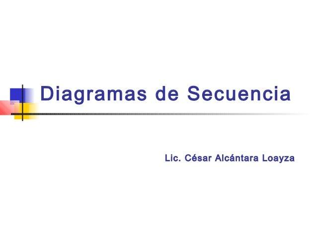 Diagramas de Secuencia          Lic. César Alcántara Loayza
