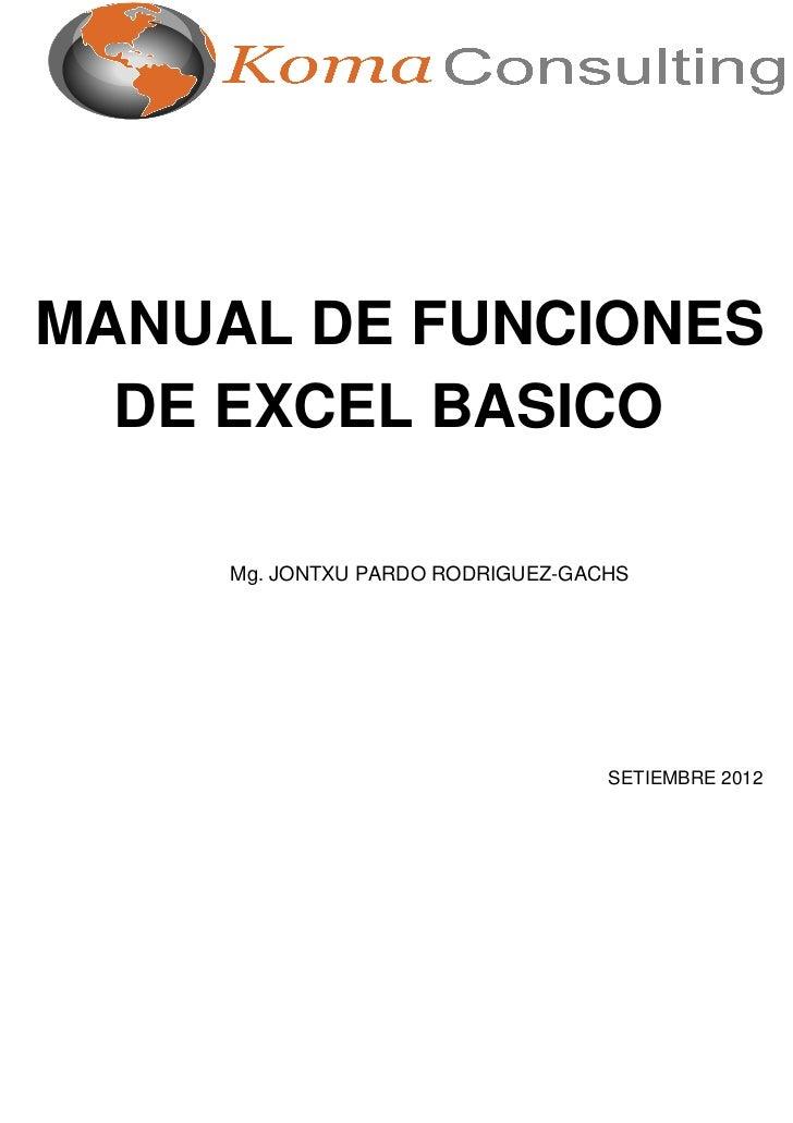 Sesion 6 a funciones basicas en excel