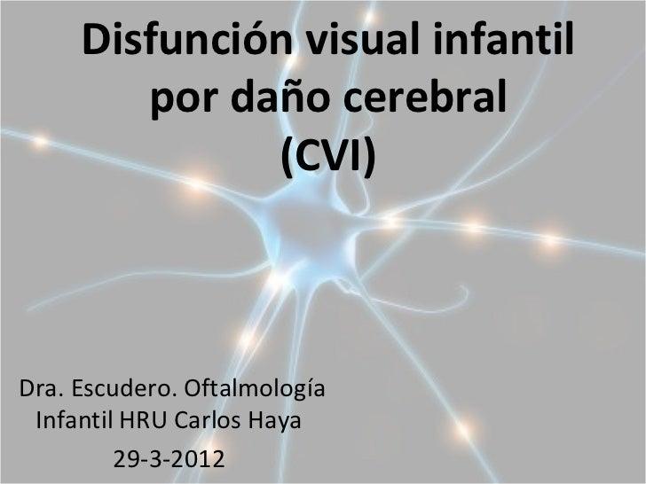 Disfunción Visual Funcional por Daño Cerebral 1