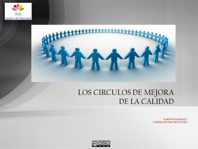 www.gestiondeenfermeria.com  LOS CIRCULOS DE MEJORA DE LA CALIDAD ALBERTO GONZALEZ SUPERVISOR TRAUMATOLOGÍA