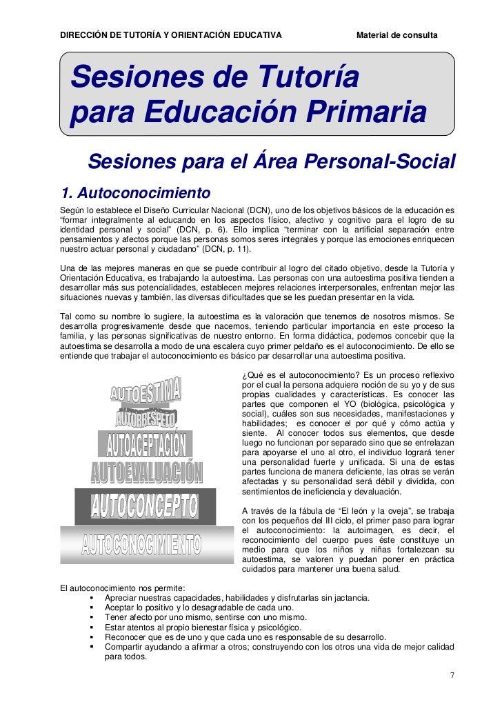 Sesiones De Tutoria Jornada Completa Peru | orientaciones