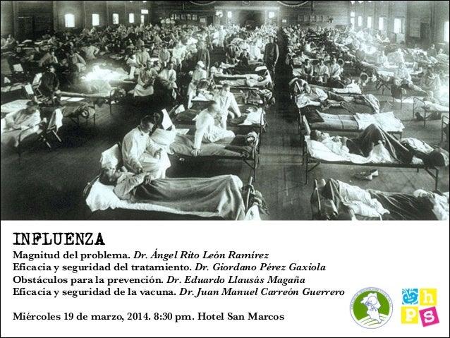 Sesión Influenza - Colegio de pediatras - marzo 2014