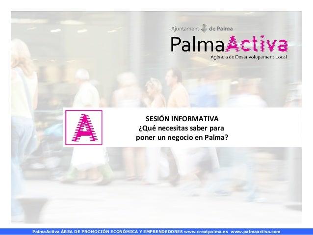 PalmaActiva - Què cal per posar un negoci a Palma? (dimecres)