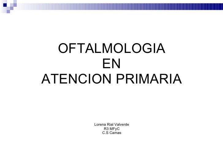 Sesion oftalmología en ap