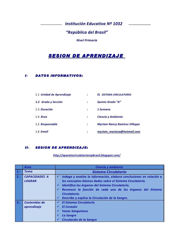 """Institución Educativa Nº 1032                                     """"República del Brasil""""                                  ..."""