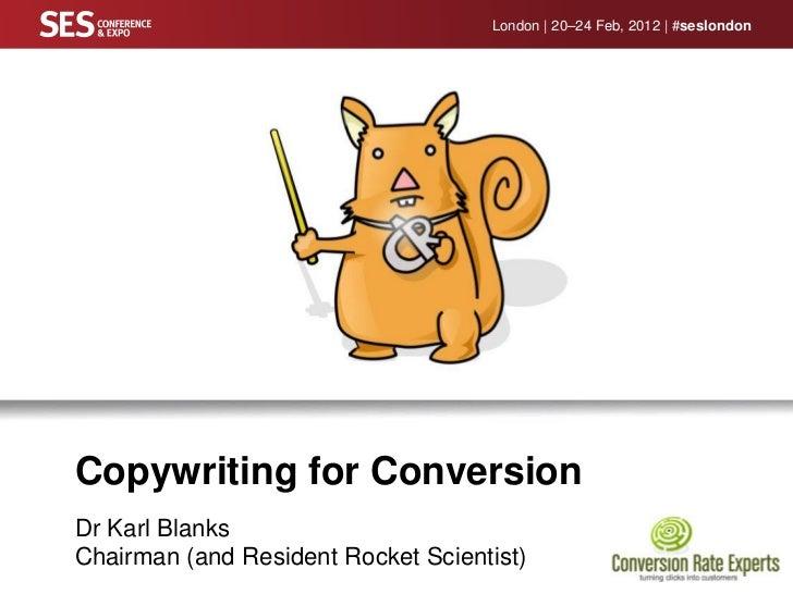 SES London 2012 - Karl Blanks - Landing Page Optimisation
