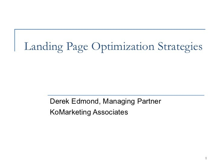 #SESNY Theater Presentation: Landing Page Optimization