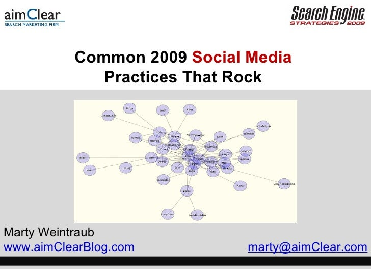 Common 2009  Social Media   Practices That Rock  Marty Weintraub www.aimClearBlog.com  marty@aimClear.com